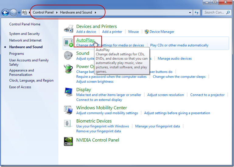 How To Turn On or Off AutoPlay Features in Windows 7–Change What
