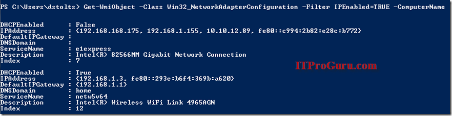Using PowerShell to Get or Set NetworkAdapterConfiguration-View and