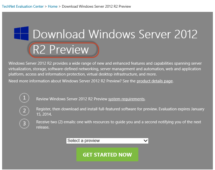 Download Windows Server 2012 or 2012 R2 (includes Hyper-V) Free