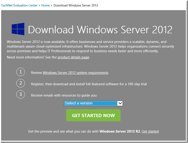 windows server 2012 trial version free download