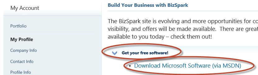 Activate Free MSDN Windows Azure Account From BizSpark