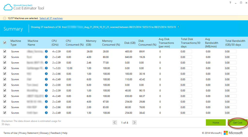 Awesome Tool – Estimating costs for migrating workloads to Azure